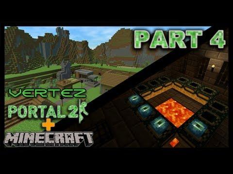 [#4] Minecraft + Portal 2 - Wioska - Vertez Let's Play / Zagrajmy w