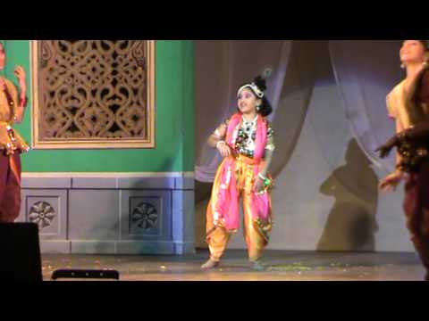 Aryaa as Krishna in Bharat Natyam Ballet
