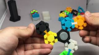 3D Printed Hex Tile Fidget Spinner