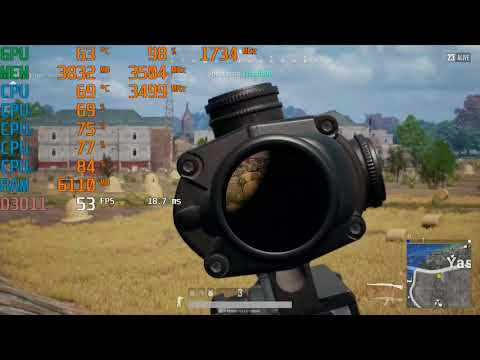 Intel Core i3-4150 \ GeForce GTX 1050 Ti \ PUBG \ high settings @1080p