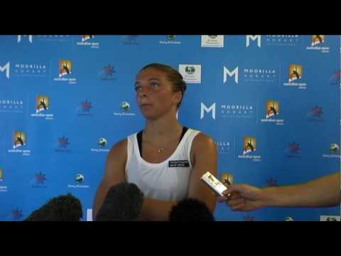 Sara Errani's first round press conference