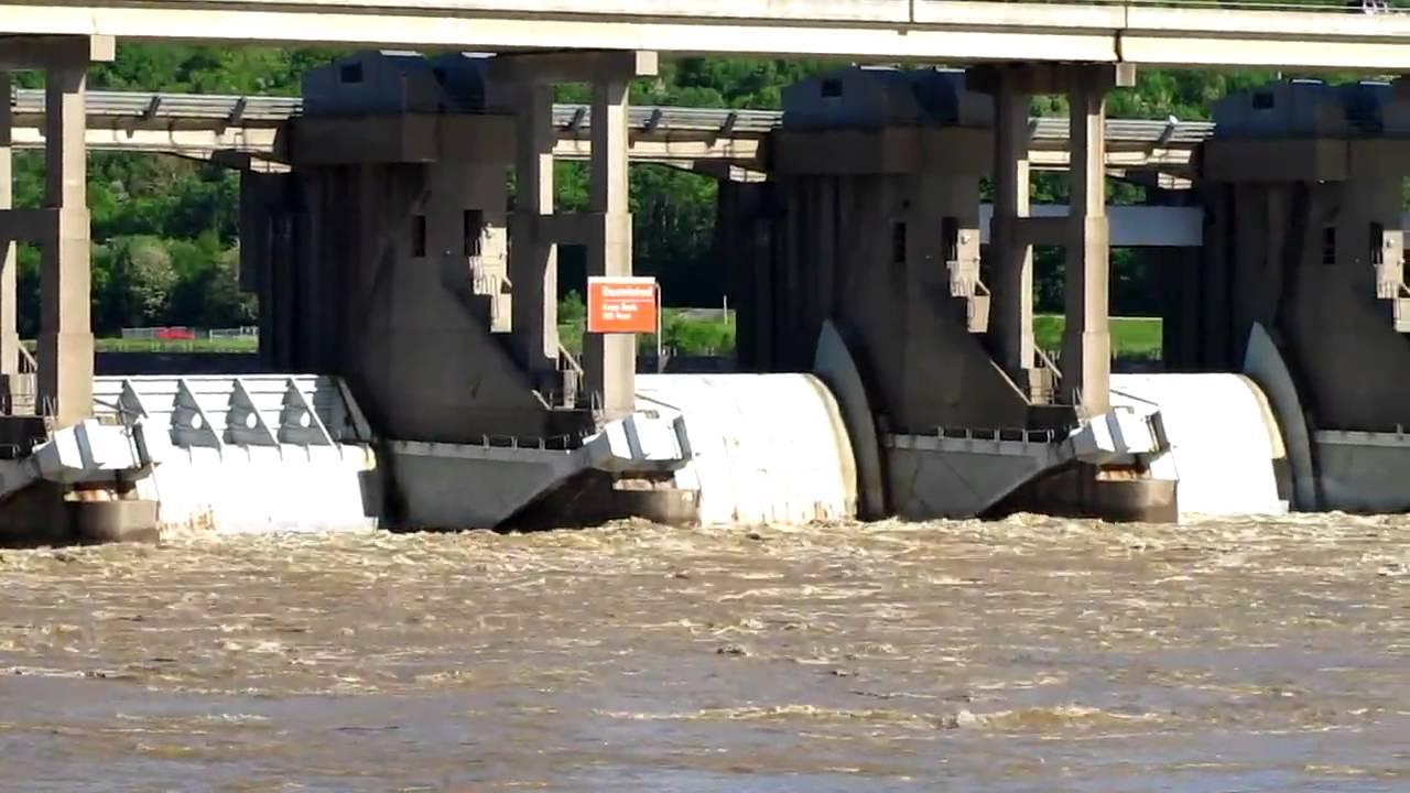 Markland Dam Flooding Flooding at Markland Dam