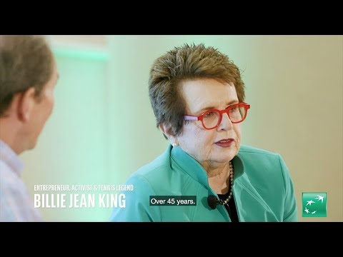 Billie Jean King on the fight for equality in tennis