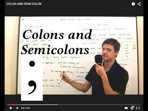 Punctuation Lessons: COLONS AND SEMICOLONS