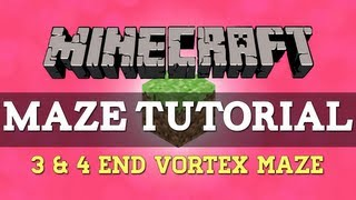 How to make a 3 and 4-end vortex maze path in Minecraft Xbox 360