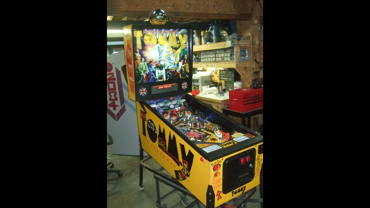 Pinball machine and neat led mod in plane tnt amusements youtube