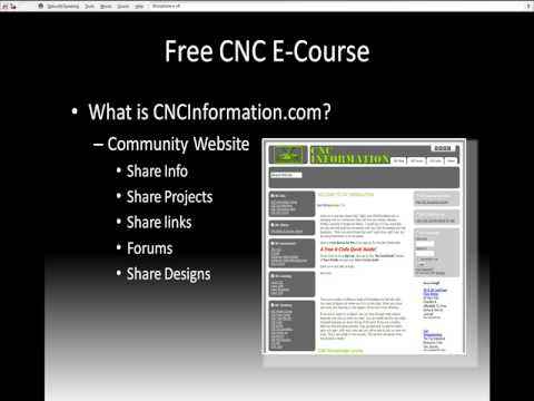 CNC Basics E-Course   Learn CNC Tutorial Video   CNC