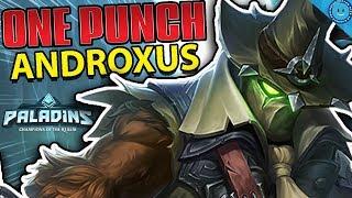 ONE PUNCH ANDROXUS! 1920 BURST DAMAGE! Defiant Fist Androxus Gameplay (Paladins)