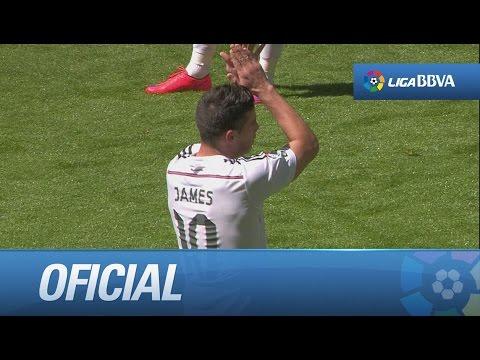 Regreso de James tras su lesión: dos asistencias y ovación del Bernabéu