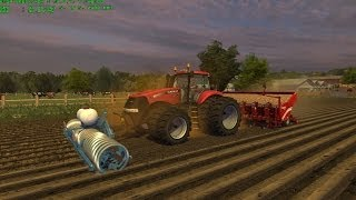 Farming Simulator 2013 Plants potatoes with Case Magnum 370 and Grimme