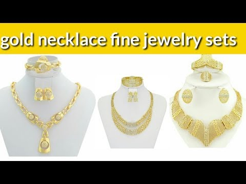 gold necklace fine jewelry sets fashion NECKLAC new design