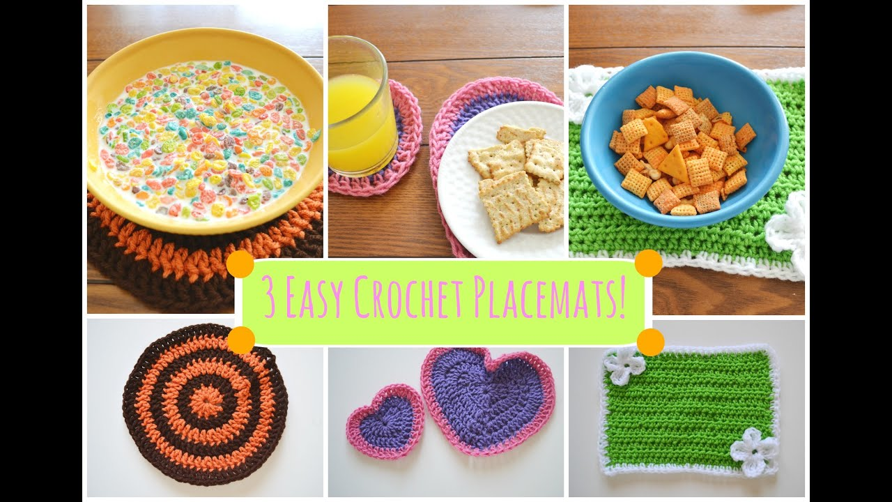 3 Easy Cute Diy Crochet Placemats Ms Craft Nerd Youtube
