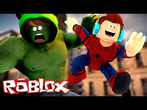 Roblox - HOMEM ARANHA VS HULK !! (Roblox Super Hero Tycoon)