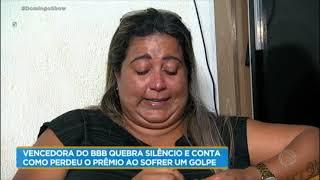 Vencedora de reality, Cida chora ao falar de casa que perdeu