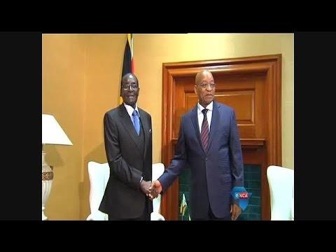 Robert Mugabe meet South African President Jacob Zuma