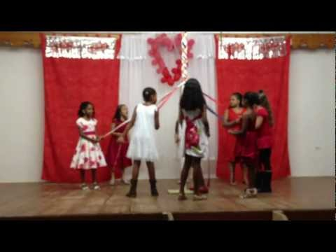 Sacred Heart School children doing their May Pole Dance. - 02/09/2013