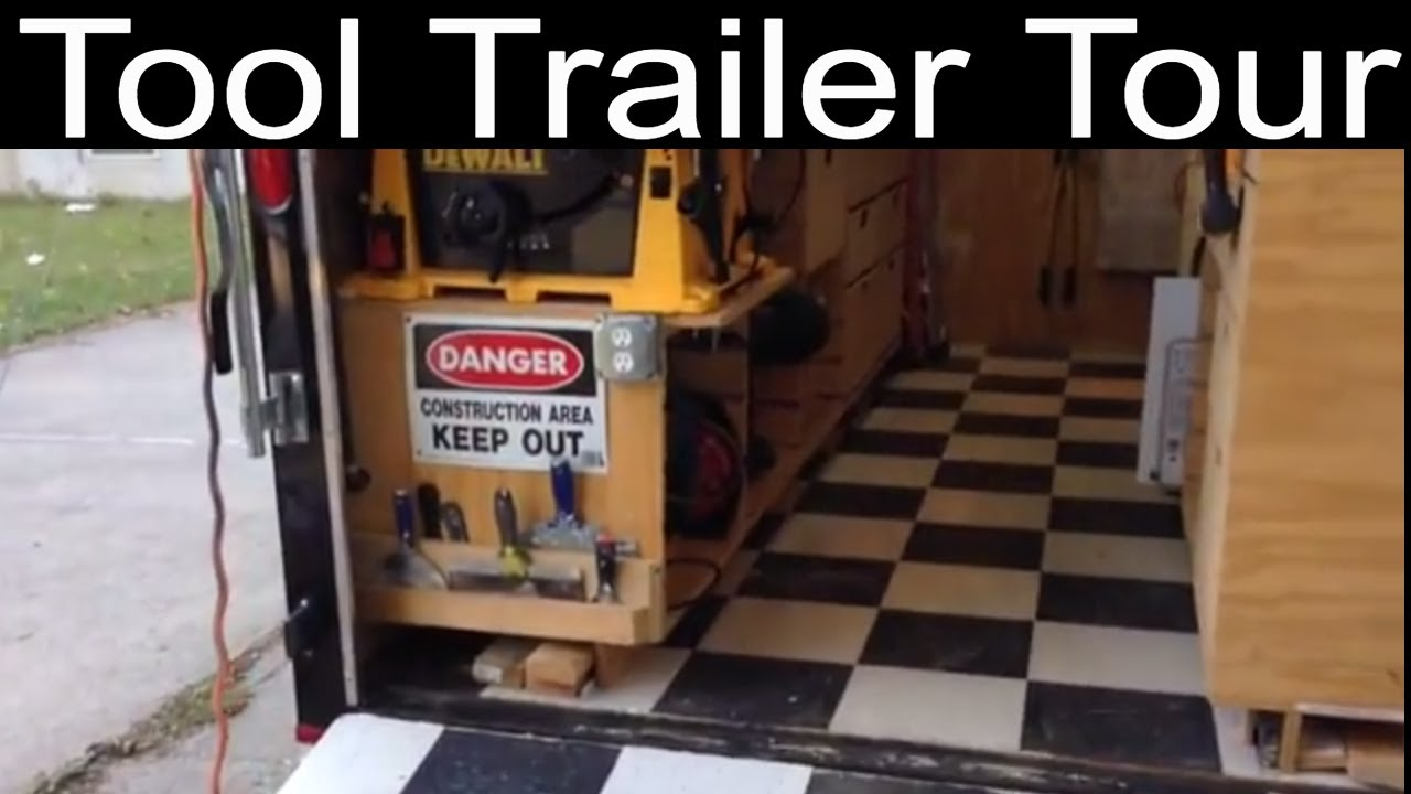 Workshop on wheels and tool trailer features youtube for Rv workshop