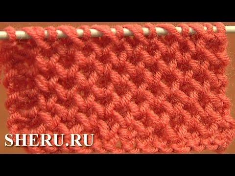 Вязание. Узор спицами соты