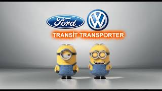 Ford Transit vs Volkswagen Transporter Minions Style