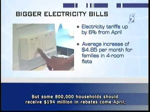 Electricity tariff to increase again! 6.1% up starting April - 29Mar2011