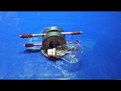 real free energy generator with magnet and pencil using light bulb new technology thumbnail