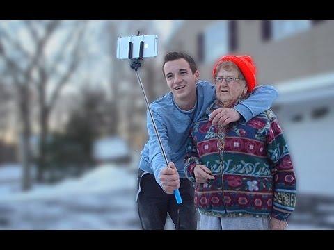 Teaching My Grandma How To Use A Selfie Stick