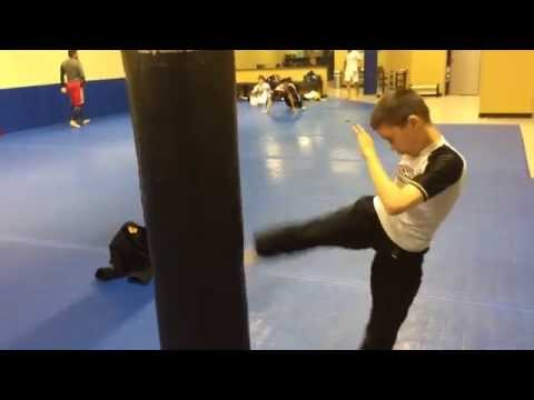 Trident Academy | New Boxing Ring and Heavy Bag Stand - 04/25/2014
