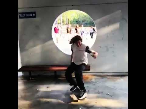 Threading the needle @frigg_newtons 🎥: @therealmannycruz | Shralpin Skateboarding