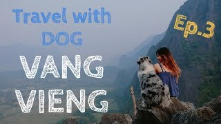 TRAVEL WITH DOG IN VANGVIENG EP.3 | TRAVEL WITH ME & AUSSIE SHEPHERD