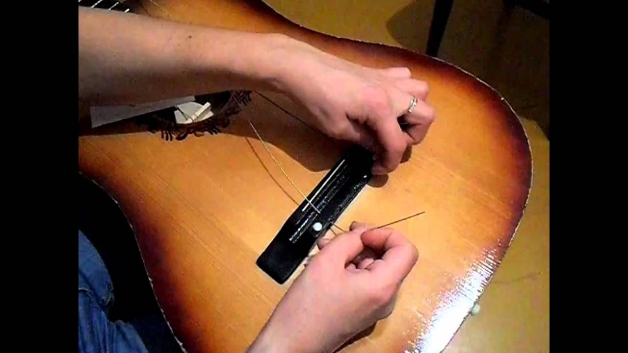 Как сделать струны на гитару своими руками 89