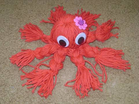 Easy Yarn Crafts: Japanese yarn octopus
