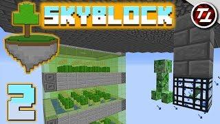 Minecraft SkyBlock #2 - Raining Creepers!
