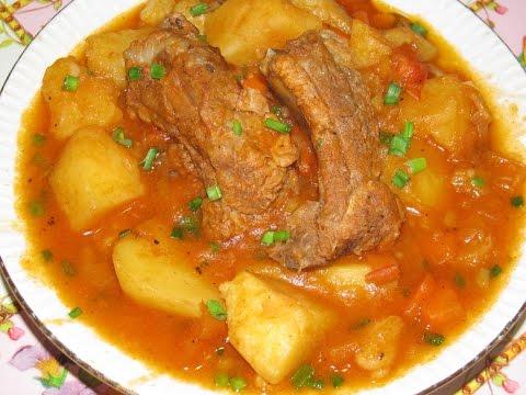 Рецепт рёбрышки свиные тушеные с картошкой пошагово