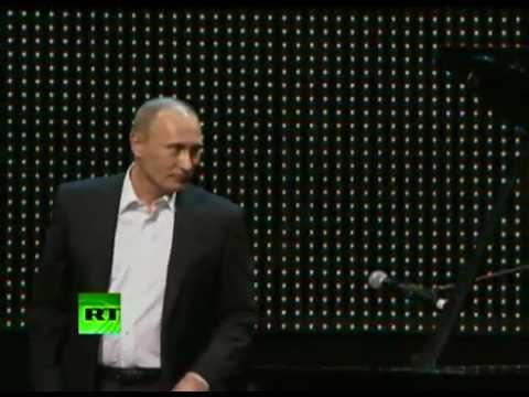 The coolest president Vladimir Putin playing piano and singing at a charity fundraiser.