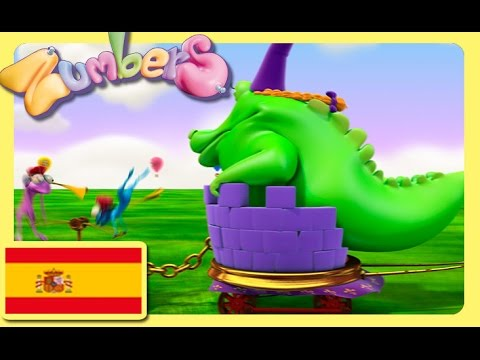 Zumbers, learning Spanish numbers. EP 5. Educational cartoon