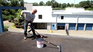 How to Apply Rubberized Roof Coating on flat roof - Karnak 229 AR Elastomeric - black