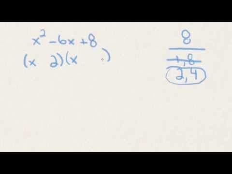 Factor Quadratic Trinomials -jsYJQu7jY2Y