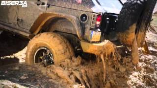 Lebanese supercharged Jeep Wrangler off-road action