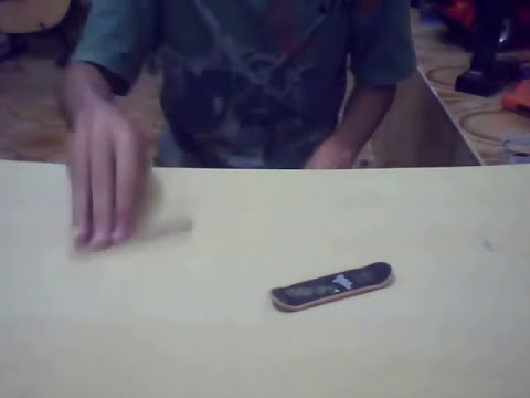 Como fazer um skate de dedo