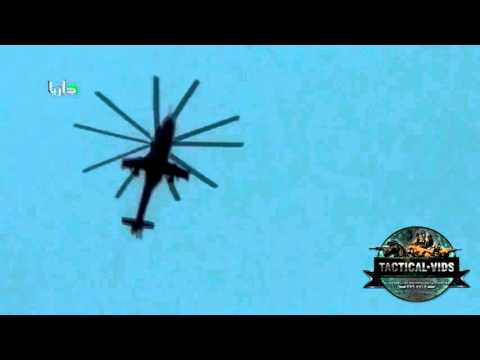 Double footage-Bomb falls directly into ISIS Syria Air strike,Jet&Helicoper