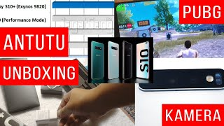 Samsung Galaxy S10+ :  Unboxing, Main PUBG 60FPS, Video Super Steady, Benchmark, Antutu - Indonesia