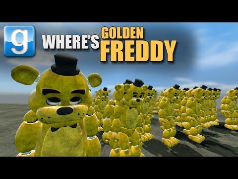 Gmod WHERE'S GOLDEN FREDDY? (Garry's Mod FNAF Mini-Game)