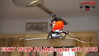 Amazing ESKY 150XP Mini RC Helicopter with CC3D