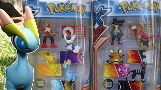 Opening: Pokemon X and Y Figure Gift Packs (Mega Blaziken and Mega Lucario sets)