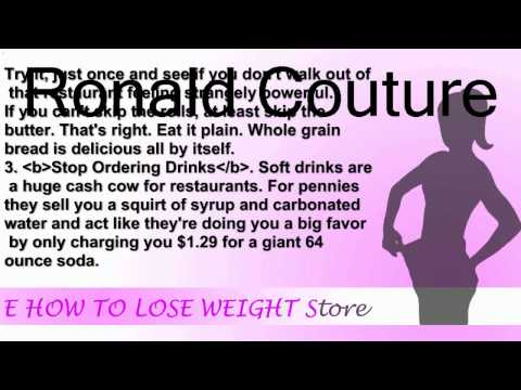 7 Tips to Get Calories Out of Restaurant Food | How To Lose Weight Fast