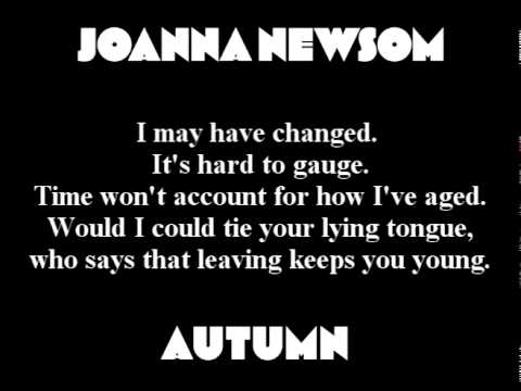 Joanna Newsom autumn lyrics