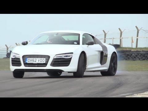 Audi R8 V10 Plus, Porsche 911 Turbo S, Litchfield GT-R. Track, Drag-Race - /CHRIS HARRIS ON CARS