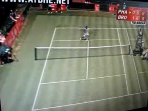 Dustin Brown Tennis Dive