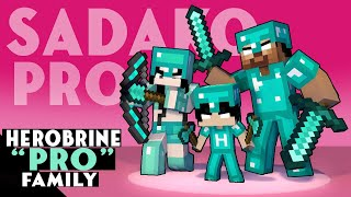 HEROBRINE PRO FAMILY - STRONG FAMILY - MONSTER SCHOOL MINECRAFT ANIMATION