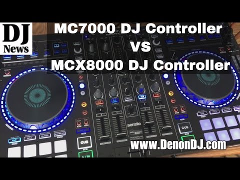 #DenonDJ MC7000 Quick Compare with MCX8000 DJ Controllers | Disc Jockey News